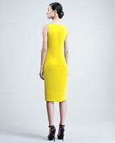 Ralph Lauren Charisse Silk Cady Dress, Yellow