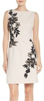 Betsey Johnson Women's Floral Detail Crepe Dress