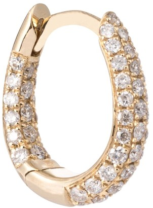 Jacquie Aiche Inside Out 14kt gold single hoop earring with pave diamonds