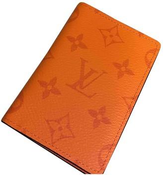 Louis Vuitton Pocket Organizer Orange Cloth Small bags, wallets & cases