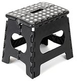 """Epica Folding Step Stool - Ideal for Kids and Adults-Non-Slip 9"""" x 11"""" Platform - Adds 9 Inches of Height - Holds Up to 350 lbs. - Black"""