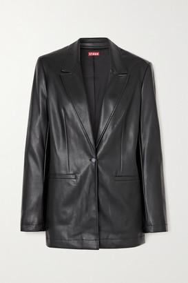 STAUD Madden Vegan Leather Blazer - Black