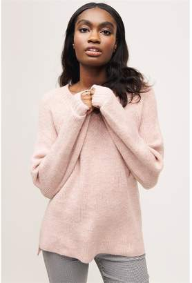 Dynamite V-Neck Tunic Sweater - FINAL SALE Old Rose