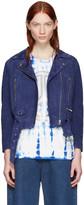 Acne Studios Blue Suede Mock Jacket
