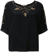 Vanessa Bruno floral embroidery blouse - women - Silk/Polyester - 36
