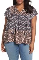 NYDJ Plus Size Women's Mix Border Print Blouse