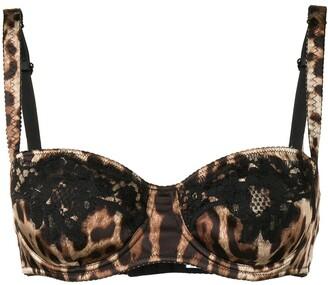Dolce & Gabbana Leopard Print Bra