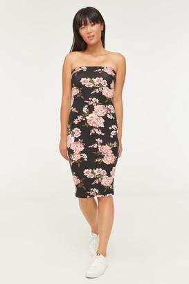 Ardene Bodycon Floral Strapless Dress