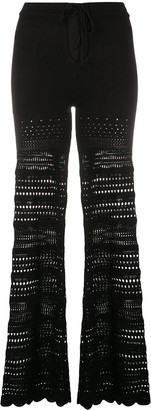 Amiri Ribbed Flared Trousers