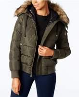 MICHAEL Michael Kors Faux-Fur-Trim Down Puffer Coat