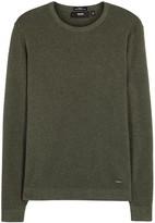 Hugo Boss Black Odam Olive Textured-knit Jumper