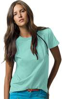 Hanes 78715953737 5680 Womens Relaxed Fit Jersey ComfortSoft Crewneck T Shirt, Green