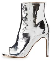 Charlotte Russe Metal-Trim Peep Toe Ankle Booties