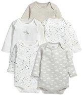 Mamas and Papas Baby-Boys 5 Pack Long Sleeve Bodysuit Unisex Long Sleeve Set of 5 Bodysuit,6-9 Months
