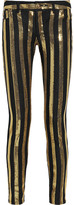 MICHAEL Michael Kors Sequin-striped skinny jeans