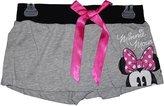 Disney Minnie Mouse Short Peeking Heather Grey Pajama Bottom Shorts Missy Sizing (Small)