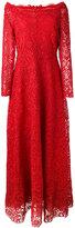 Valentino floral lace detail dresswide - women - Silk/Cotton/Polyamide/Spandex/Elastane - 42