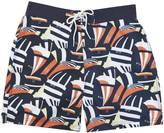 "Nautica Quick Dry 18"" Coastal Sails Print Swim Trunk"