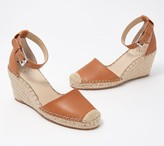Vince Camuto Leather Espadrille Wedges - Venerly