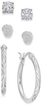 """Giani Bernini 2/"""" Diamètre de l/'Italie Nouvelle Argent sterling Boucles d/'oreilles tube Hoops par"""