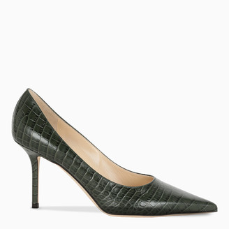 Jimmy Choo Dark green Love 85 pumps