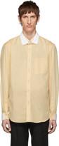 Burberry Beige Contrast Double Collar Shirt