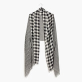 Madewell Patchwork Gingham Cape Scarf