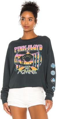 Daydreamer Pink Floyd Pompeii Long Sleeve Crop Tee