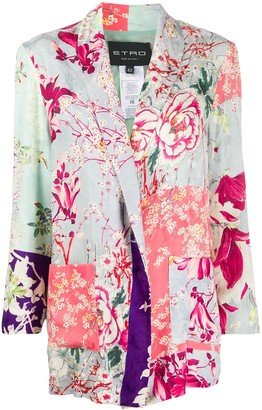 Etro Boxy Floral Blazer