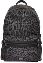 Dolce & Gabbana Leopard Printed Nylon Backpack