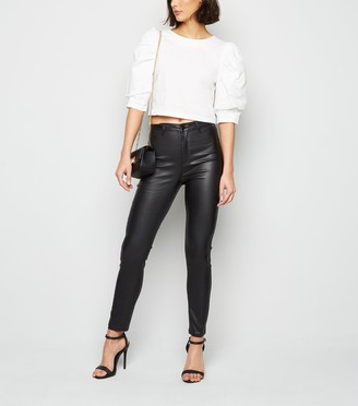 New Look Urban Bliss Leather-Look Super Skinny Jeans