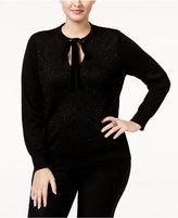 MICHAEL Michael Kors Size Sequined Velvet-Tie Sweater
