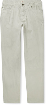 Faherty Del Mar Stretch-Cotton And Linen-Blend Trousers