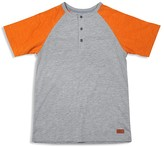 7 For All Mankind Boys' Color-Block Slubbed Henley Tee - Sizes 8-16