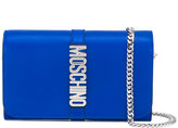 Moschino Letters chain wallet - women - Leather - One Size