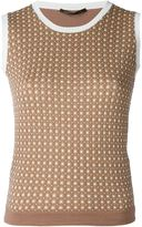 Agnona knitted sleeveless top - women - Silk/Cotton/Polyamide/Polyester - 46
