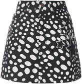 Marc Jacobs Embellished spot denim mini skirt - women - Cotton - 28
