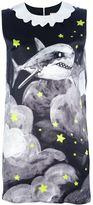 Migh-T By Kumiko Watari shark print shift dress