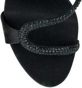 Giuseppe Zanotti Embellished satin sandal