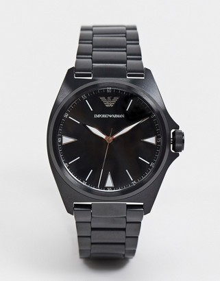 Emporio Armani nicola bracelet watch in black AR11257