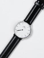 Daniel Wellington 36MM Sheffield Watch in Black & Silver