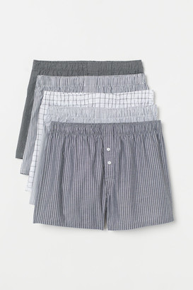 H&M 5-pack Woven Boxer Shorts - Gray