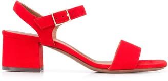 L'Autre Chose Block Heel Suede Sandals