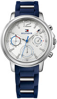 Tommy Hilfiger Women's Sport Lux Stainless Navy Silicone Strap Watch 39mm 1781746