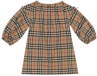 BURBERRY KIDS Vintage Check cotton dress
