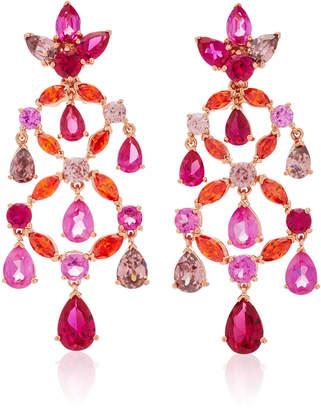 Anabela Chan Ruby Chandelier Earrings