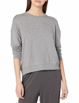 Eberjey Women's Piped Crew Long Sleeve TOP