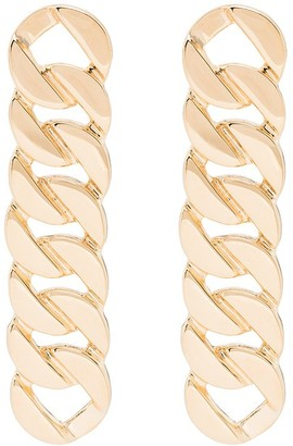 Saskia Diez Gold-Plated Grand Chain Earrings