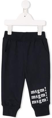 MSGM Kids logo print sweatpants