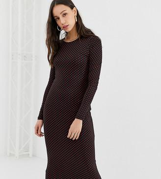 Glamorous Tall midi dress with long sleeves